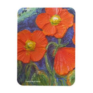 Orange Poppies Premium Magnet