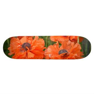Orange Poppies Skate Board
