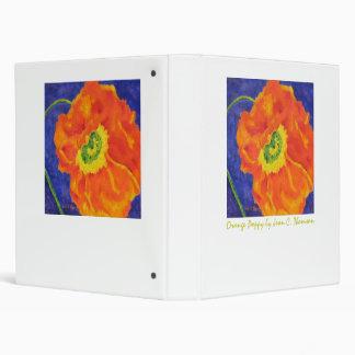 Orange Poppy Binder