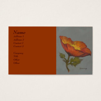 'Orange Poppy' - Business profile card