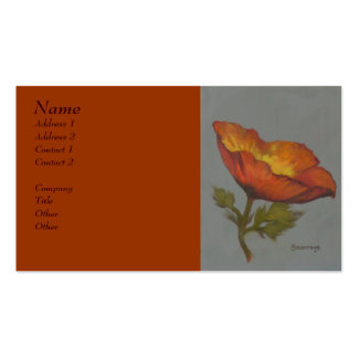 'Orange Poppy' - Business profile card Business Card