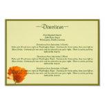 Orange Poppy Direction Cards Personalized Invites