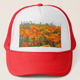 Orange Poppy Field of Flowers Trucker Hat