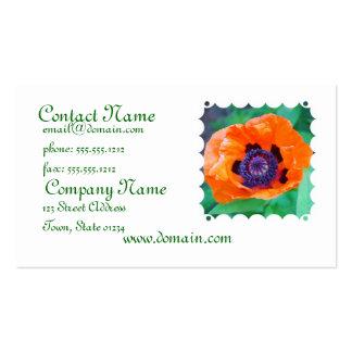 Orange Poppy Flower Business Card