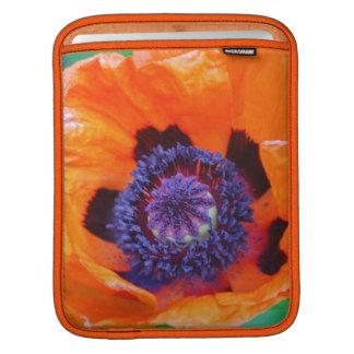 Orange Poppy Flower iPad Sleeve