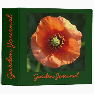 "Orange Poppy Garden Journal - Avery 2"" Binder"