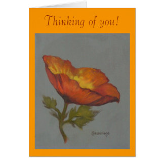 "'Orange Poppy"" greeting card"