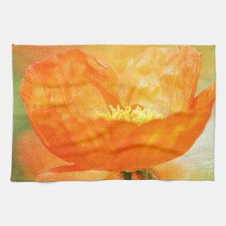 Orange Poppy Towel