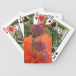 Orange Poppy Playing Cards