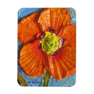 Orange Poppy Premium Magnet