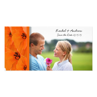 Orange Poppy Save the Date Photo Card