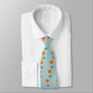 orange poppy tie