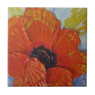 Orange Poppy Tile