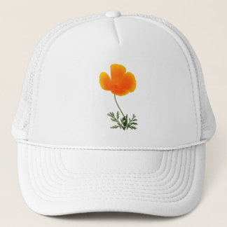orange poppy trucker hat