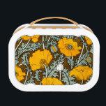 "Orange Poppy Yubo Lunchbox<br><div class=""desc"">Yubo Lunchbox with vintage floral design showing orange poppy flowers.</div>"