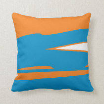 Orange Powdah Throw Pillow