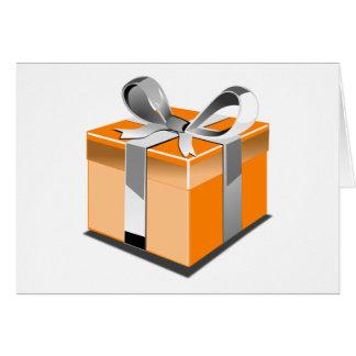 Orange Present Card