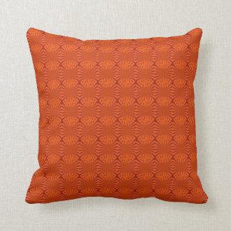 Orange print pillow