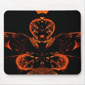 Orange Prism Mouse Pad