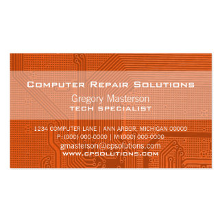 Orange Professional Circuit Business Card