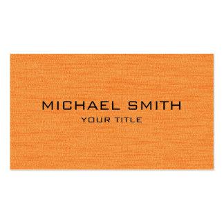Orange Professional Modern Business Card