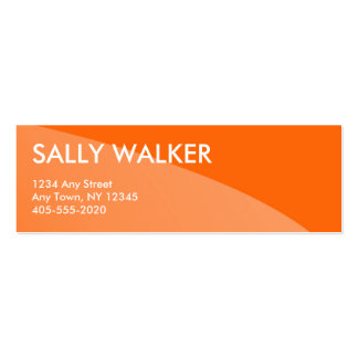 Orange Professional Modern mini business cards
