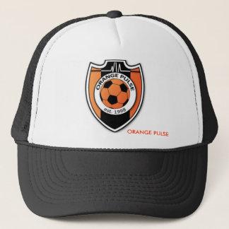 ORANGE PULSE TRUCKER HAT