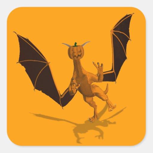 Orange Pumpkin Dragon Sticker