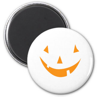 Orange Pumpkin Face 2 Inch Round Magnet
