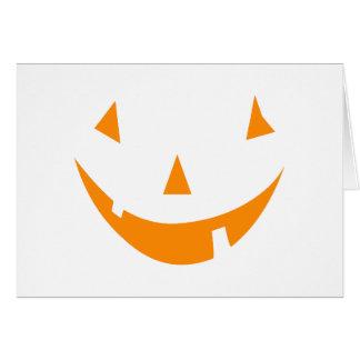 Orange Pumpkin Face Greeting Card