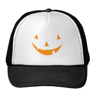 Orange Pumpkin Face Trucker Hat