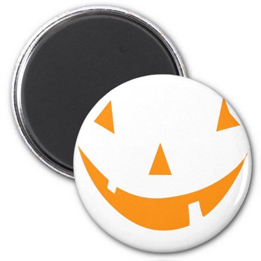 Orange Pumpkin Face Magnet