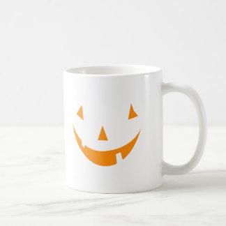 Orange Pumpkin Face Coffee Mugs