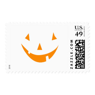 Orange Pumpkin Face Postage