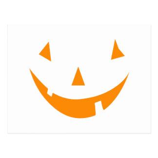Orange Pumpkin Face Postcard