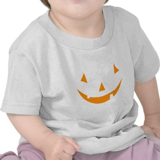 Orange Pumpkin Face Shirts