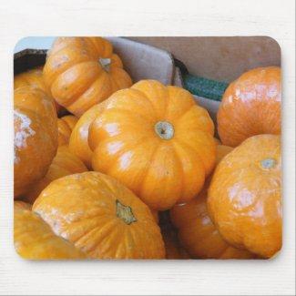Orange Pumpkin Ghourds mousepad