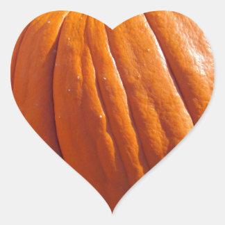 Orange Pumpkin Heart Sticker