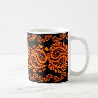 Orange Pumpkin Paisley Halloween Coffee Mug / Cup Mugs