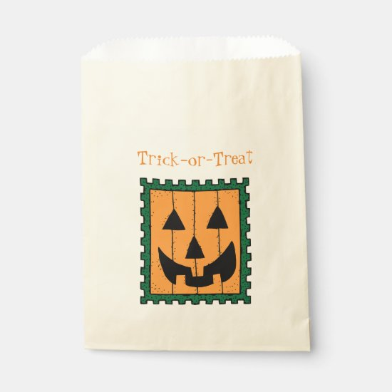 Orange Pumpkin Stamp - goodie bag