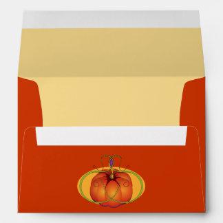 Orange Pumpkin Thanksgiving Envelopes