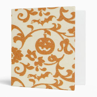 Orange Pumpkin Vines Binder