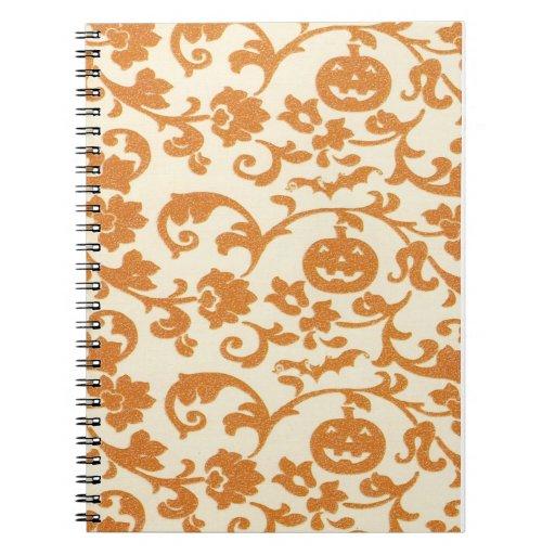 Orange Pumpkin Vines Notebook