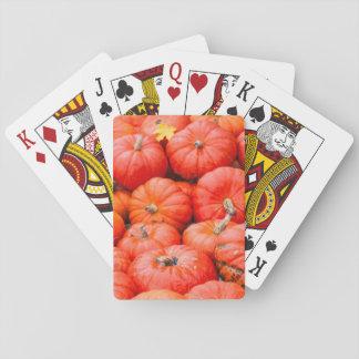Orange pumpkins at market, Germany Playing Cards
