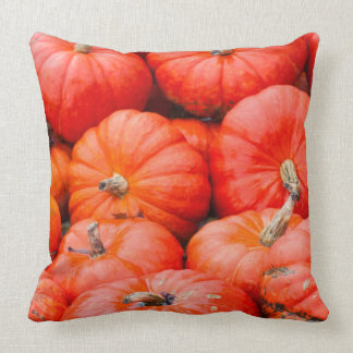 Orange pumpkins at market, Germany Throw Pillow