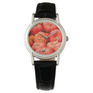 Orange pumpkins at market, Germany Wrist Watch