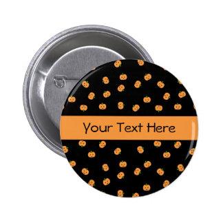 Orange Pumpkins Customizable Pinback Button