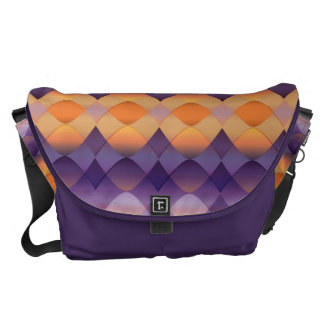 Orange Purple Abstract stained glass Courier Bag