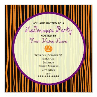 Orange, Purple, and Black Halloween Party Invite