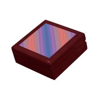 Orange Purple and Blue Diagonal Stripes Design Jewelry Box